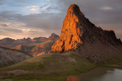 dragons back, uncompahgre, wilderness, colorado, sunset, peak, unnamed