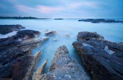 akumal, lagoon, water, long exposure, lava, rocks, lines, unique, mexico, yucatan peninsula