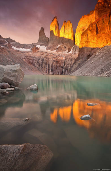 los, torres, sunrise, del, paine, national, park, chile, impressive, lucky, towers
