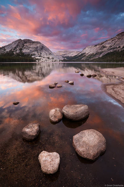 tenaya, lake, sunset, yosemite, national park, california, high country