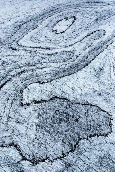 aerial, image, glacier, curves, vatnajökull, iceland, abstract, lines, patterns,