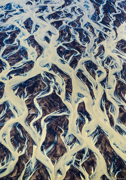 aerial, rivers, iceland, abstract, intertwining, glacial,