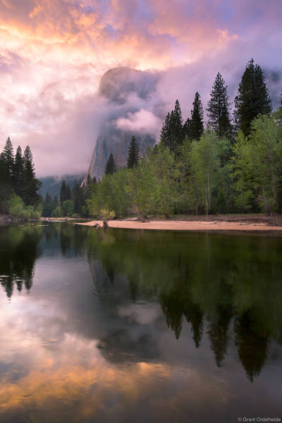 spring, el, cap, el capitan, clearing, storm, yosemite, national park, california, merced, river, valley,