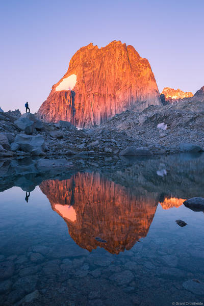 snowpatch, spire, bugaboo, provincial, park, british, columbia, climber, sunrise, massive,