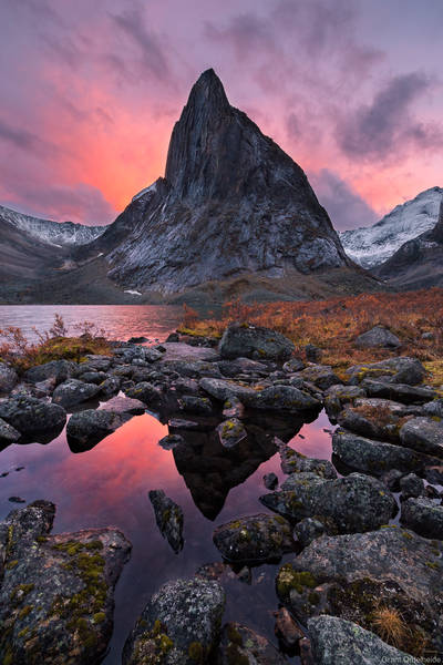 remote, territorial, park, tombstone, yukon, sharks, tooth, autumn, sunset, rugged, mountain