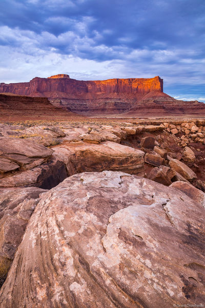 white, rim, sunset, canyonlands, national, park, utah, island in the sky, trail,