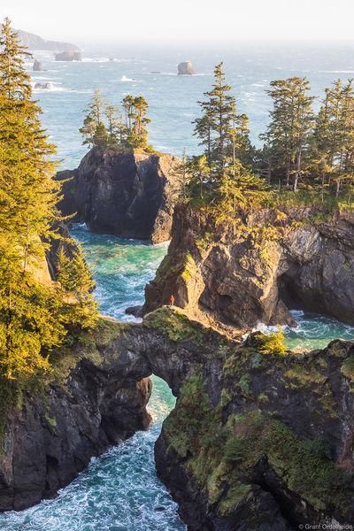 oregon, coast, brookings, hiker, sunset, samual boardman, scenic, corridor, southern