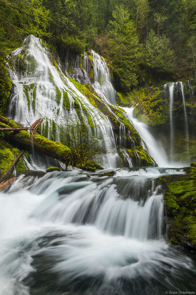 panther, creek, falls, carson, washington, columbia, river, gorge, state