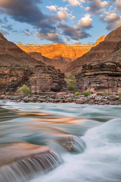 river, rim, grand, canyon, national, park, arizona, view, colorado, layers, rock