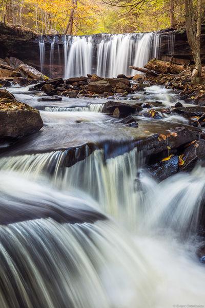 ricketts, glen, falls, state park, Pennsylvania, fall, foliage, cascading, waterfalls,