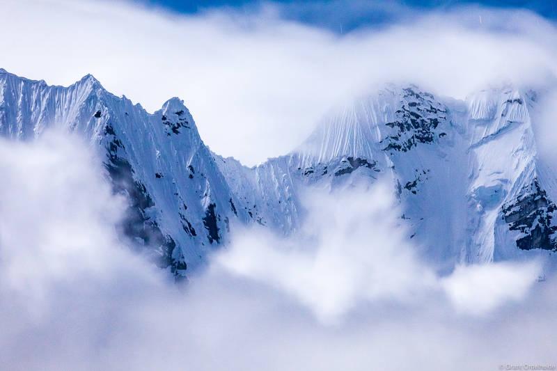 monsoon, mountains, cordillera, huayhuash, huaraz, peru, rugged, ridge, clouds, night