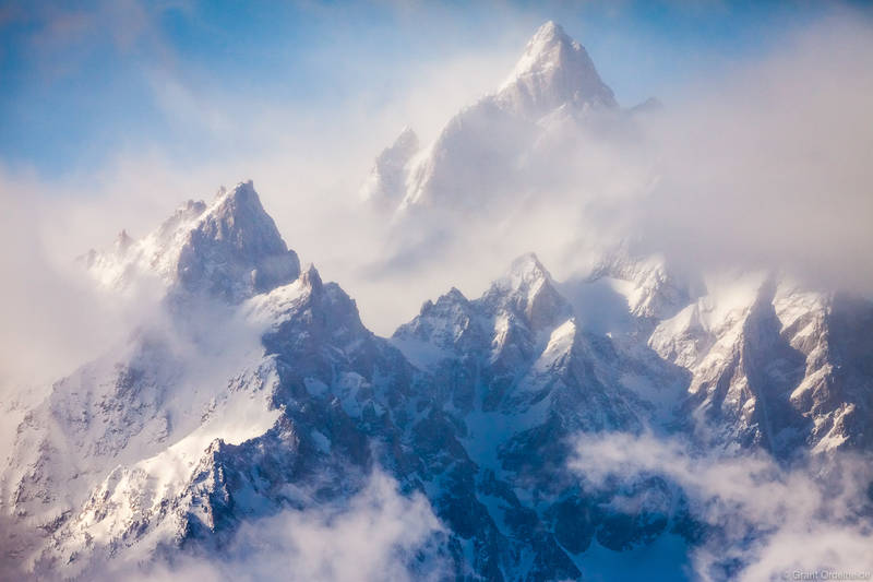 cathedral group, grand teton, national park, wyoming, storm, clearing, winter, teewinot, grand teton, mount owen