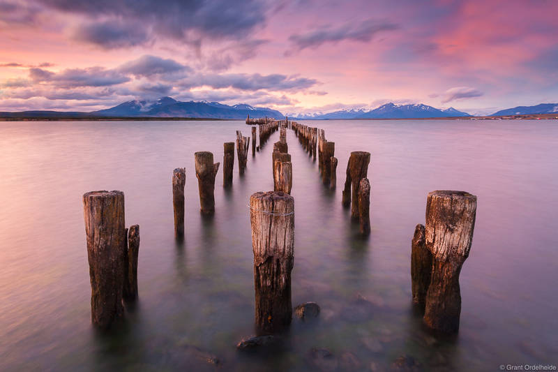 puerto, natales, docks, old, torres, del, paine, chile