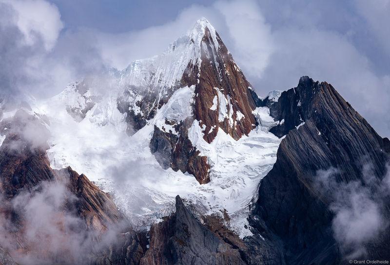 huayhuash, peak, cordillera, peru, mist, range, mountain