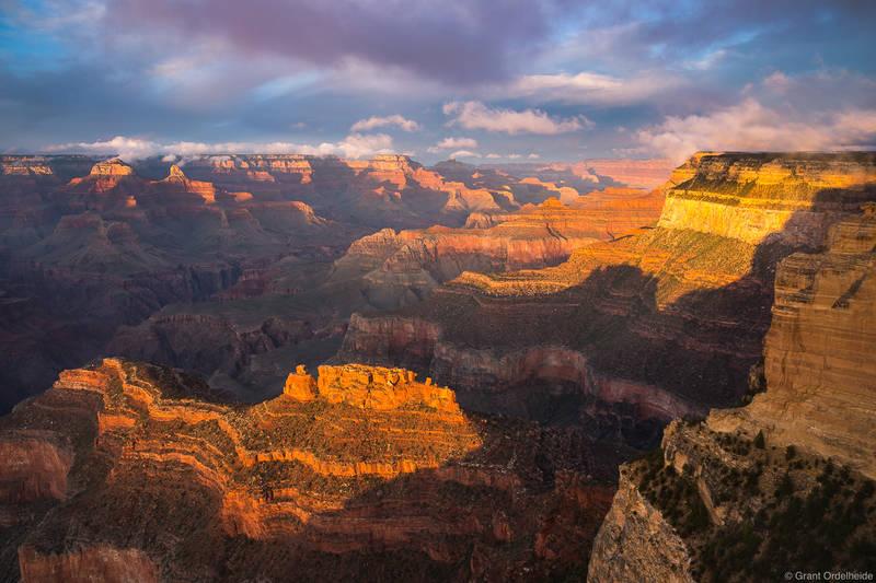 powell, point, sunset, grand, canyon, national, park, arizona, south, rim,