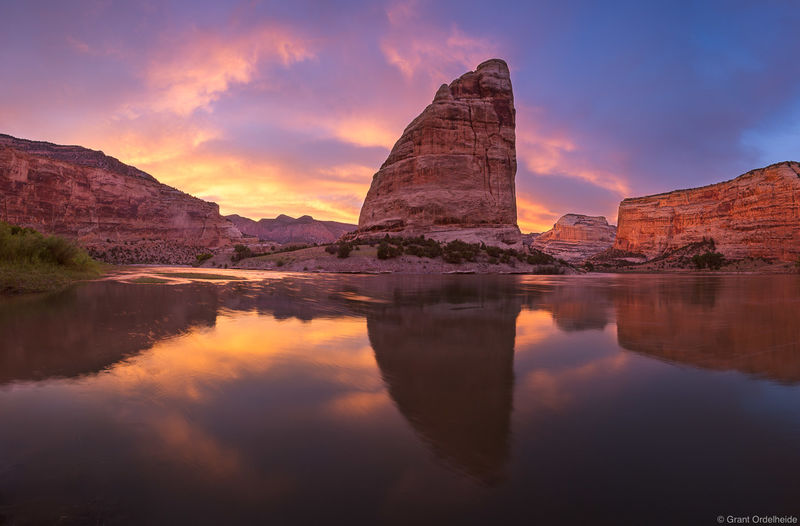 echo, park, sunset, dinosaur, national, monument, colorado, steamboat, rock, green, river