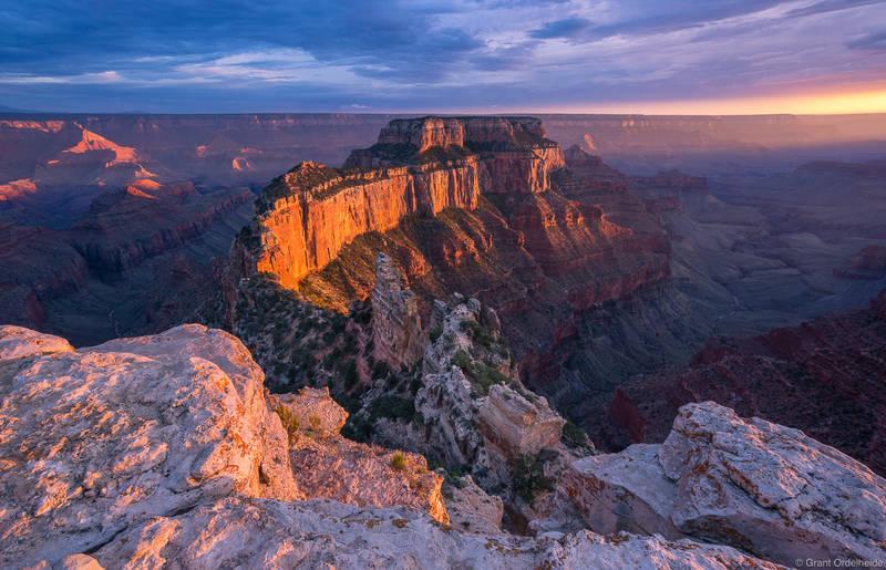 cape, royal, grand, canyon, national, park, arizona, usa, sunset, popular, viewpoint, north, rim,