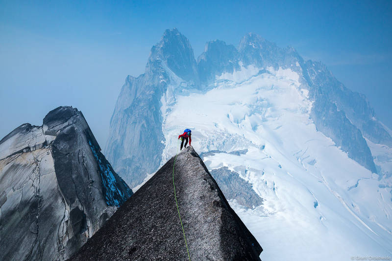 pigeon, spire, bugaboo, provincial, park, british, columbia, canada, climber, iconic, west, ridge, howser, towers,