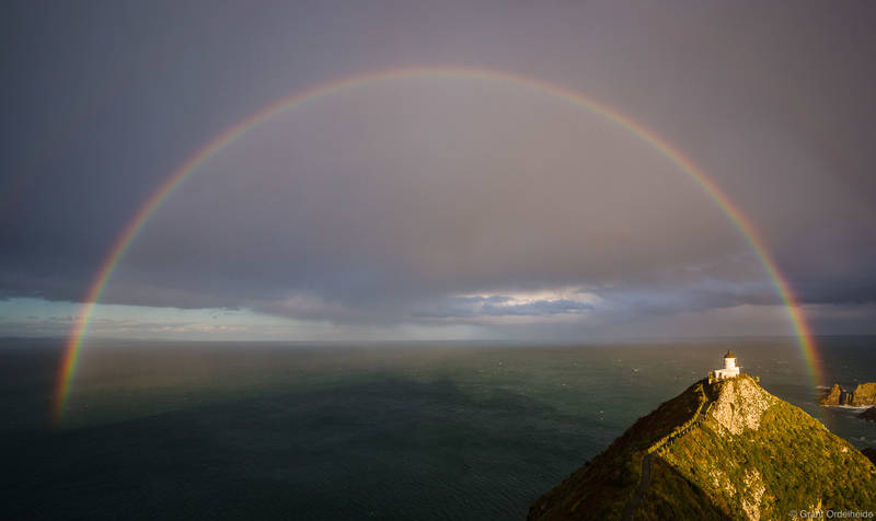 Nugget Point Full Rainbow