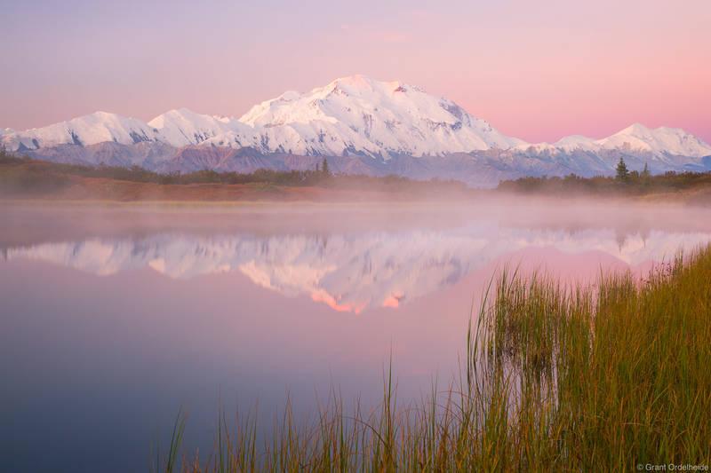 denali, sunrise, national, park, alaska, usa, highest, peak, north, america,