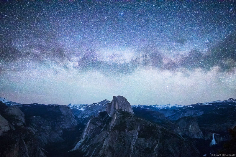glacier, point, milky way, yosemite, national park, half dome,