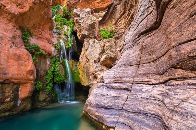 elves, chasm, grand, canyon, national, park, arizona, waterfalls, bottom,