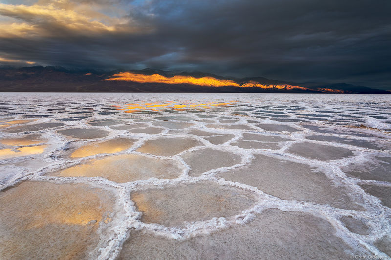 badwater, sunrise, death valley, national park, California, stormy, basin, lowest point, north america