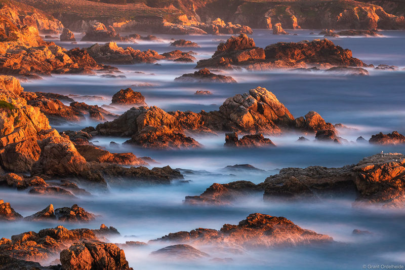 coastal, sunset, garrapata, state park, california, rocky, coastline