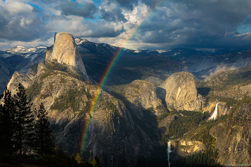 California, Half Dome, rainbow, yosemite, national park, vernal falls, nevada falls,