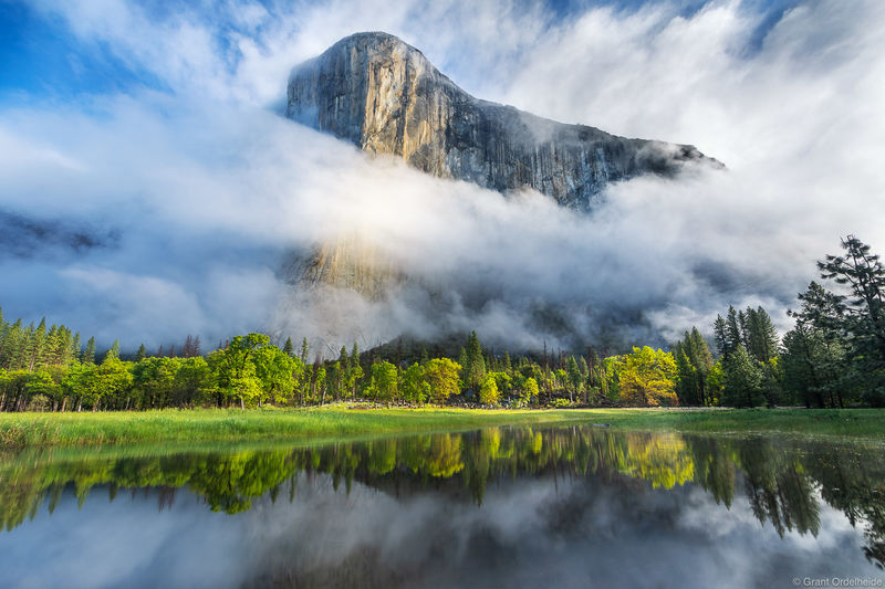 California, El Cap, El Capitan, clearning storm, morning, spring, yosemite, valley, national park,