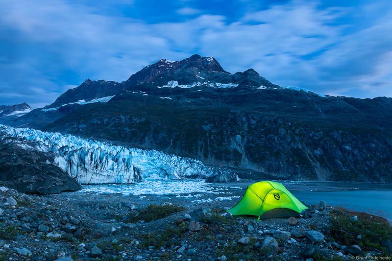 Lamplugh Glacier Camp