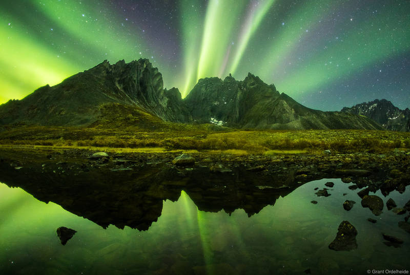 yukon, lights, tombstone, territorial, park, northern, rugged, peaks, backcountry, canada