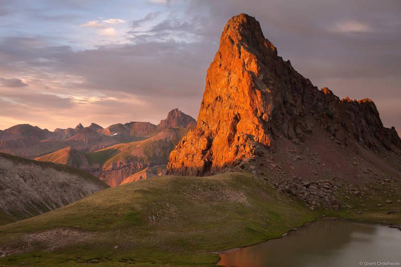 dragons back, uncompahgre, wilderness, colorado, peak, unnamed, sunset
