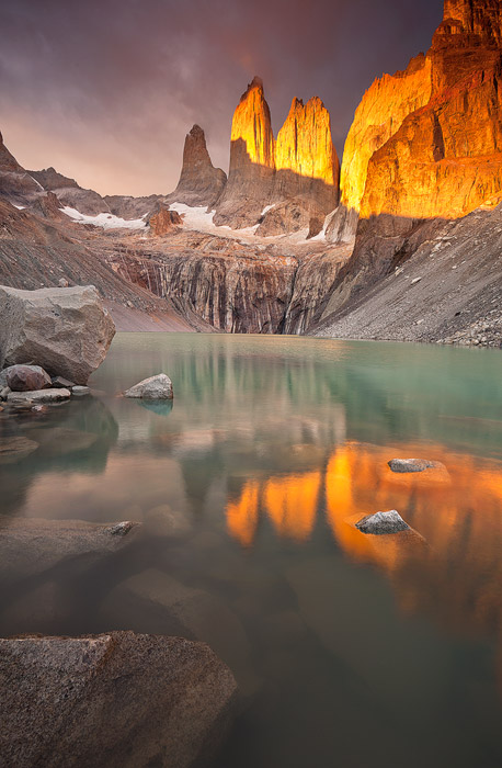 los, torres, sunrise, del, paine, national, park, famous, camped, tent, reflection, lake, windy, amazing, , photo
