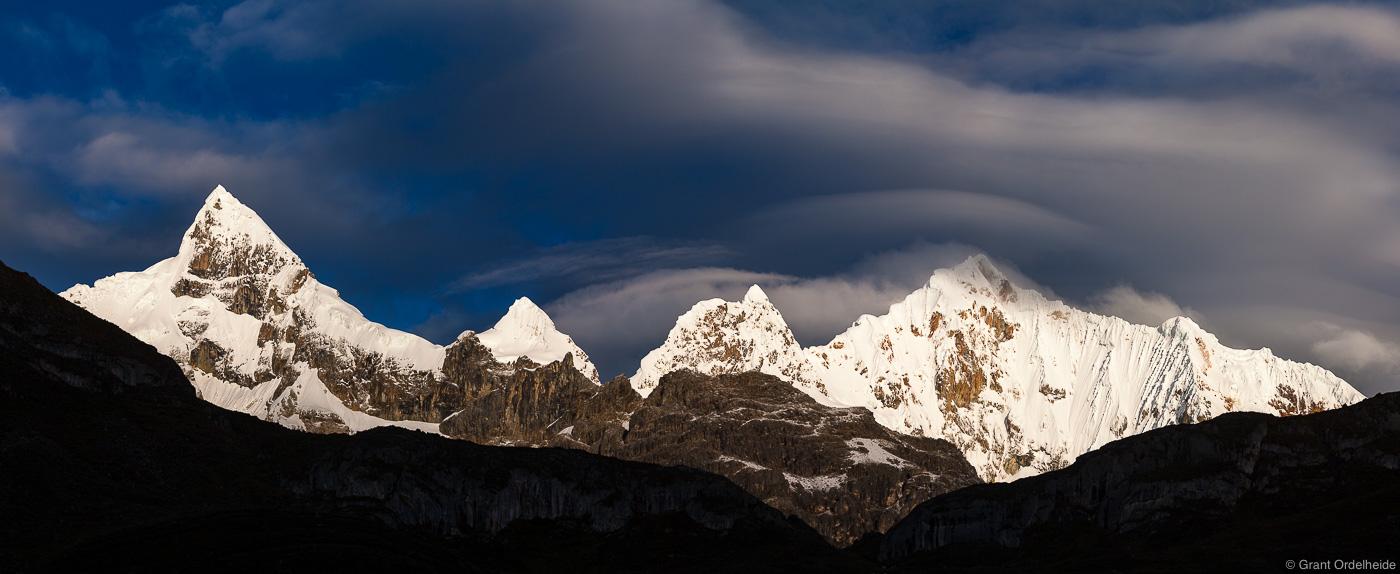 huayhuash, storm, stormy, morning, early, rugged, cordillera, peru