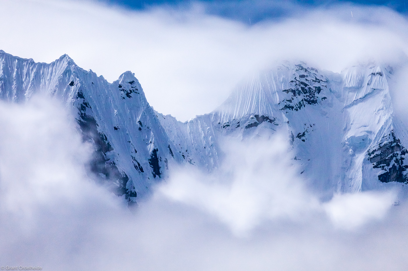 monsoon, mountains, cordillera, huayhuash, huaraz, peru, rugged, ridge, clouds, night, photo