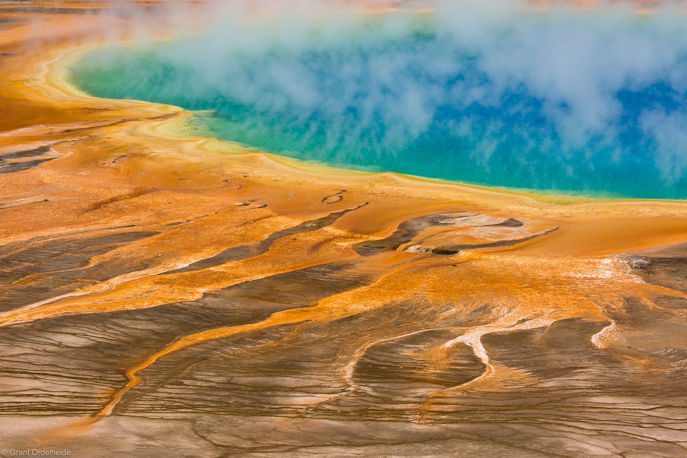 grand, prismatic, spring, colorful, hot, yellowstone, national park, wyoming, usa, , photo