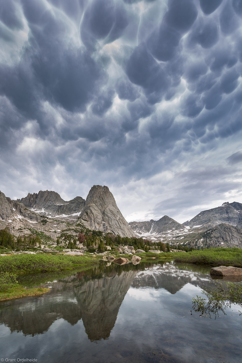 mammatus, clouds, pingora, wind river range, wyoming, usa, peak, cirque of the towers, photo