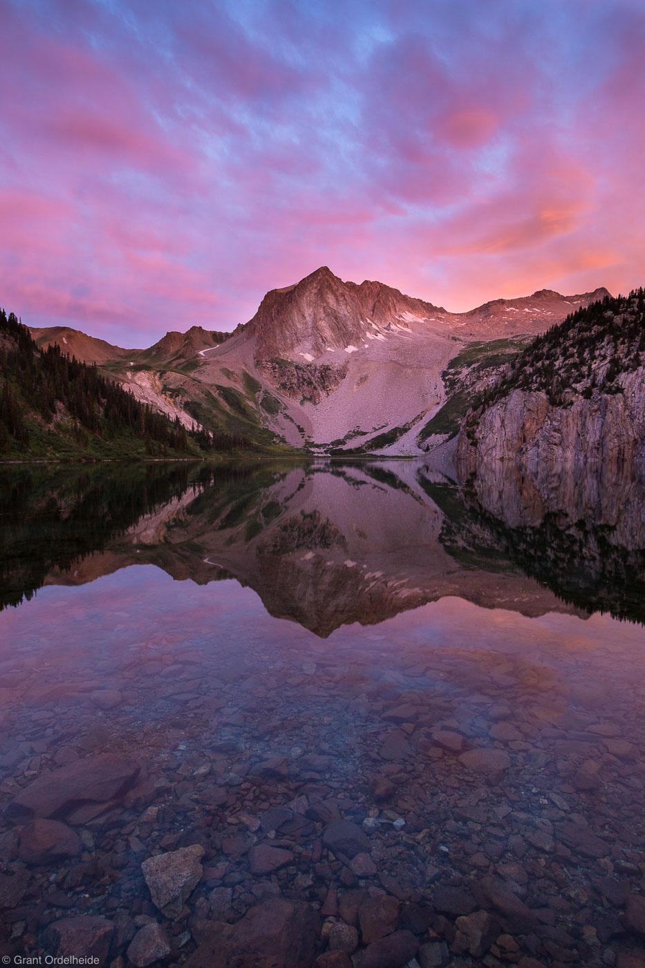 snowmass, lake, maroon bells, wilderness, aspen, colorado, reflected, sunrise, photo