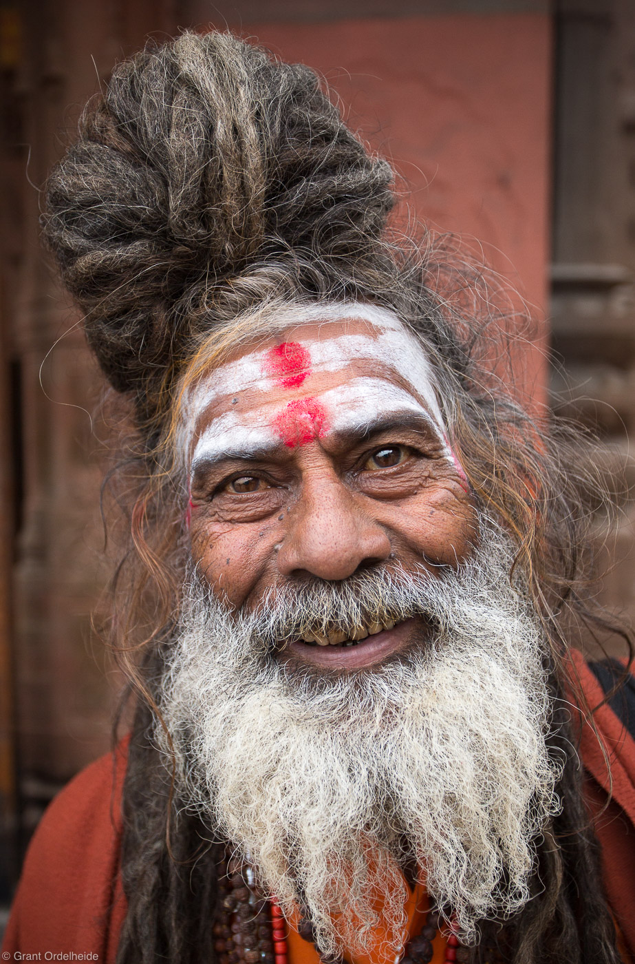 sahdu, portrait, varanasi, india, holy, man, banks, ganges, river, photo