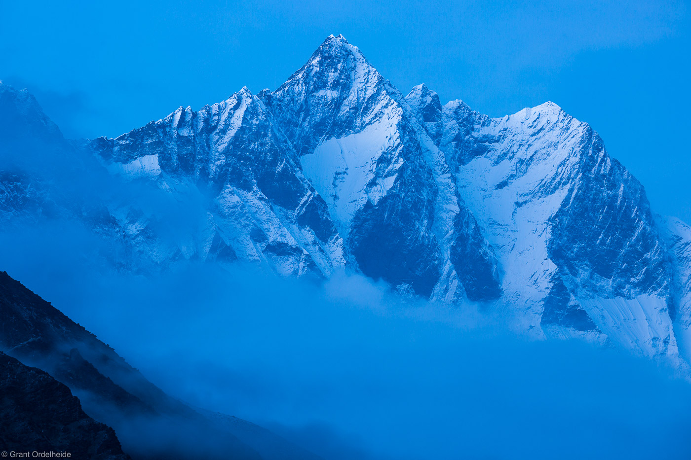 lhotse, sagarmatha, national park, himalaya, nepal, fourth, highest, mountain, world, village, dingboche, photo