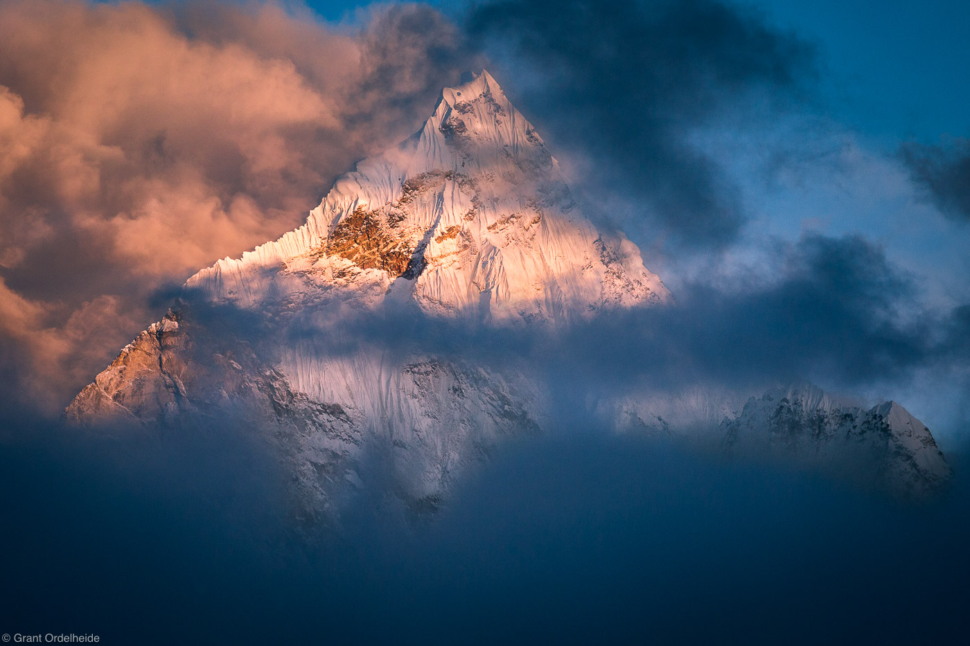 ama dablam, sagarmatha, national, park, himalaya, nepal, peaks, clouds, everest, region, , photo
