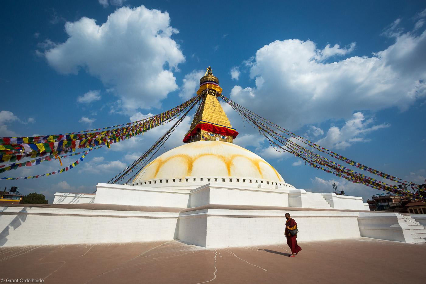 bodhnath, stupa, katmandu, nepal, bhuddist, monk, walks, photo