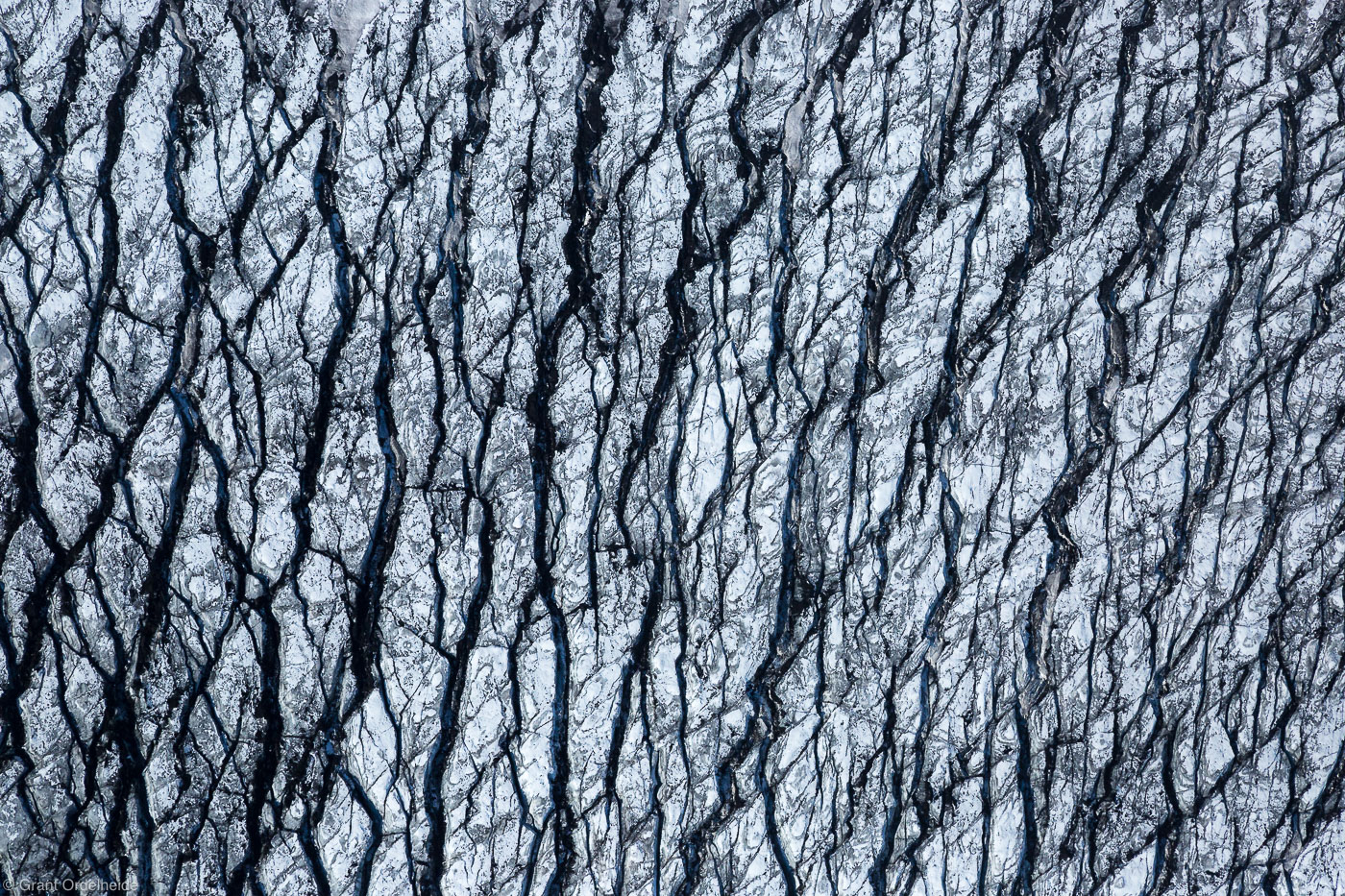 glacier, abstract, vatnajökull, cravases, iceland, aerial, pattern, , photo