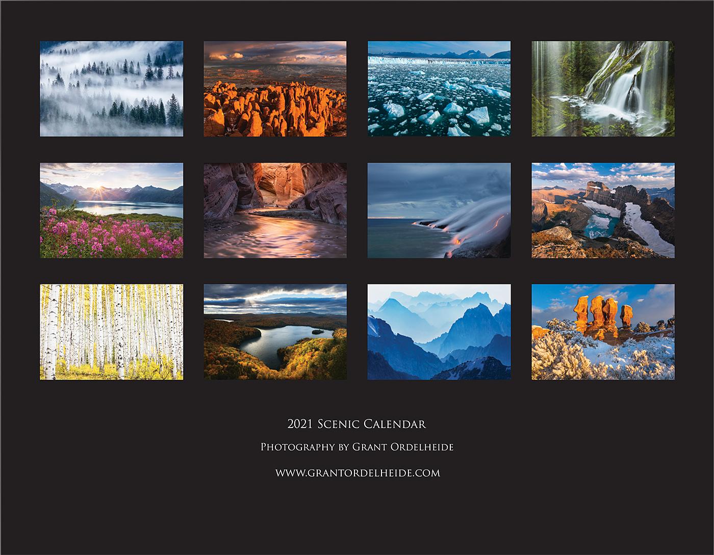 2021 Scenic Calendar
