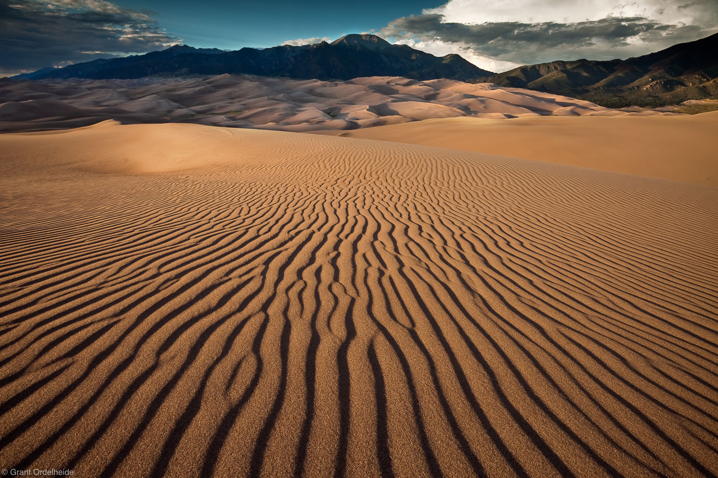 sand, dunes, great, national park, colorado, ripples, mt. herard, sangre de cristos, photo