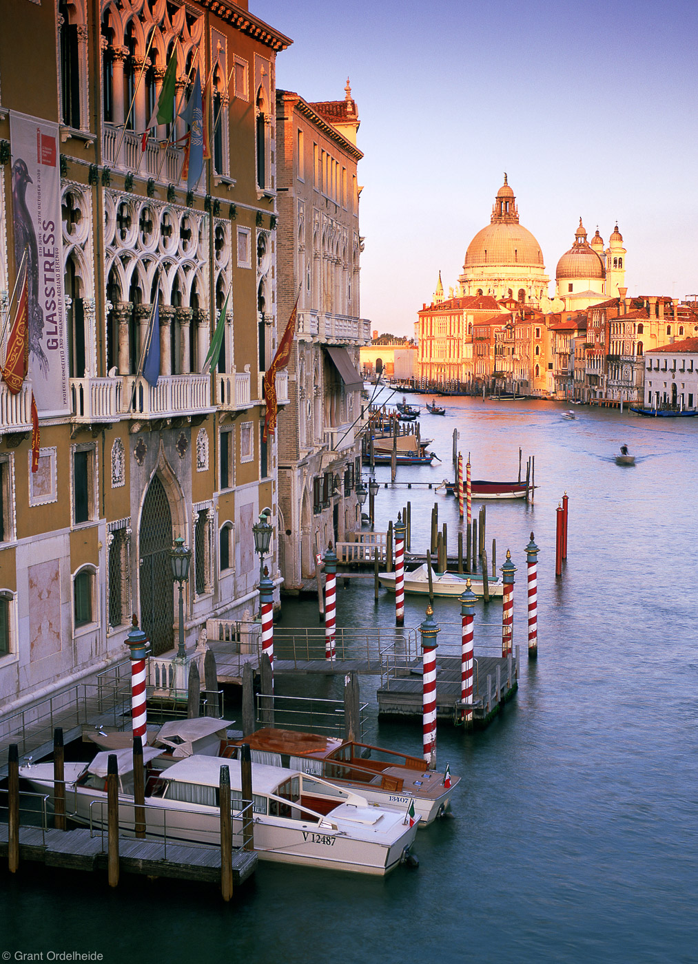 grand canal, venice, italy, boats, home, day, sunset, end, photo