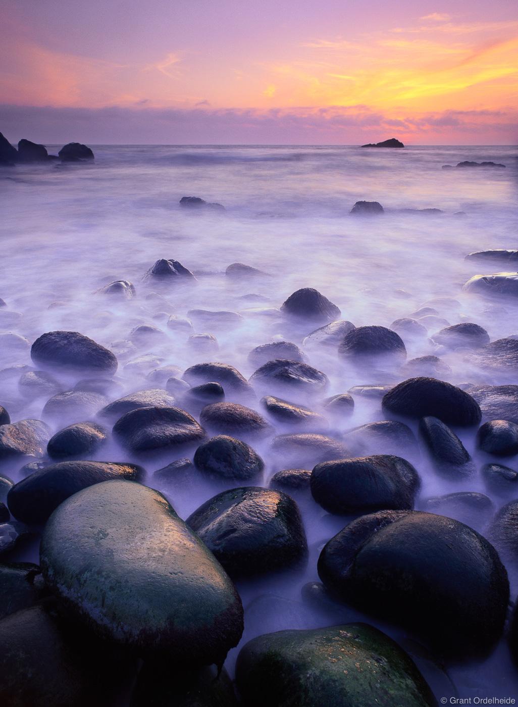 Sunset along the northern Californian coast.