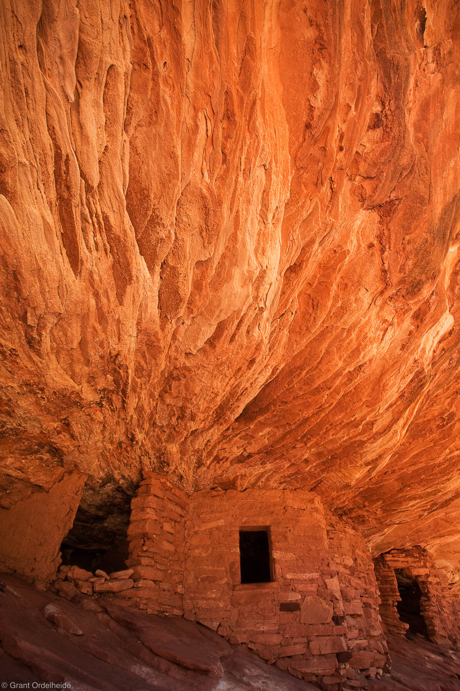 house of fire, mule canyon, utah, anasazi, ruin, photogenic, flames, light, reflected, ceiling, ancient, photo