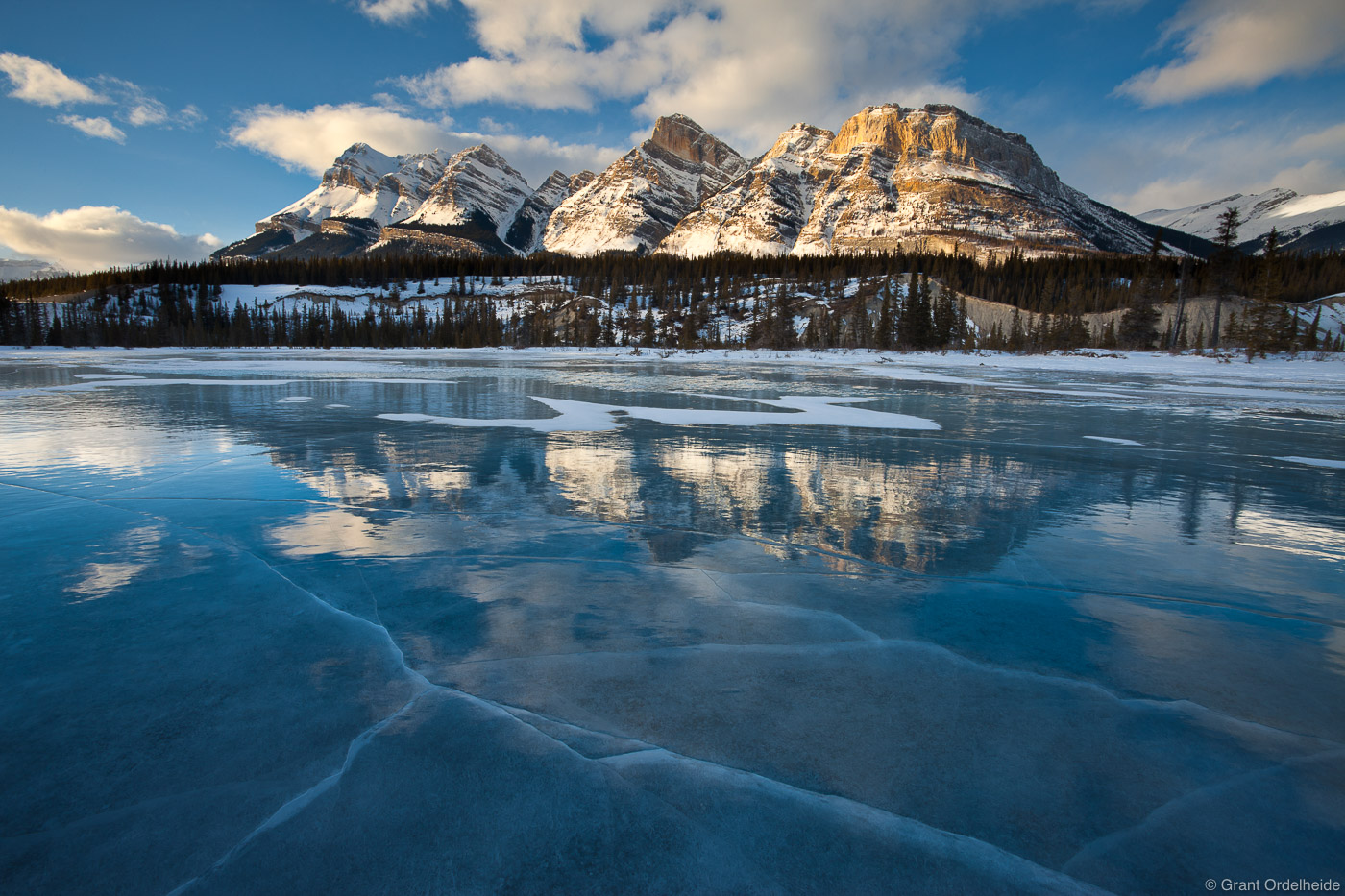 sunset, alberta, canada, north saskatchewan, river, ice fields, parkway,, photo